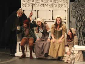 Performers from REP's production of She Stoops to Conquer