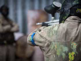 Person with a paintball gun