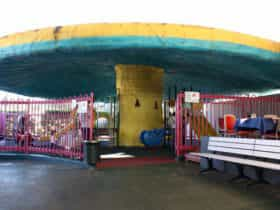 The Giant Mushroom Playground at Belconnen Fresh Food Markets
