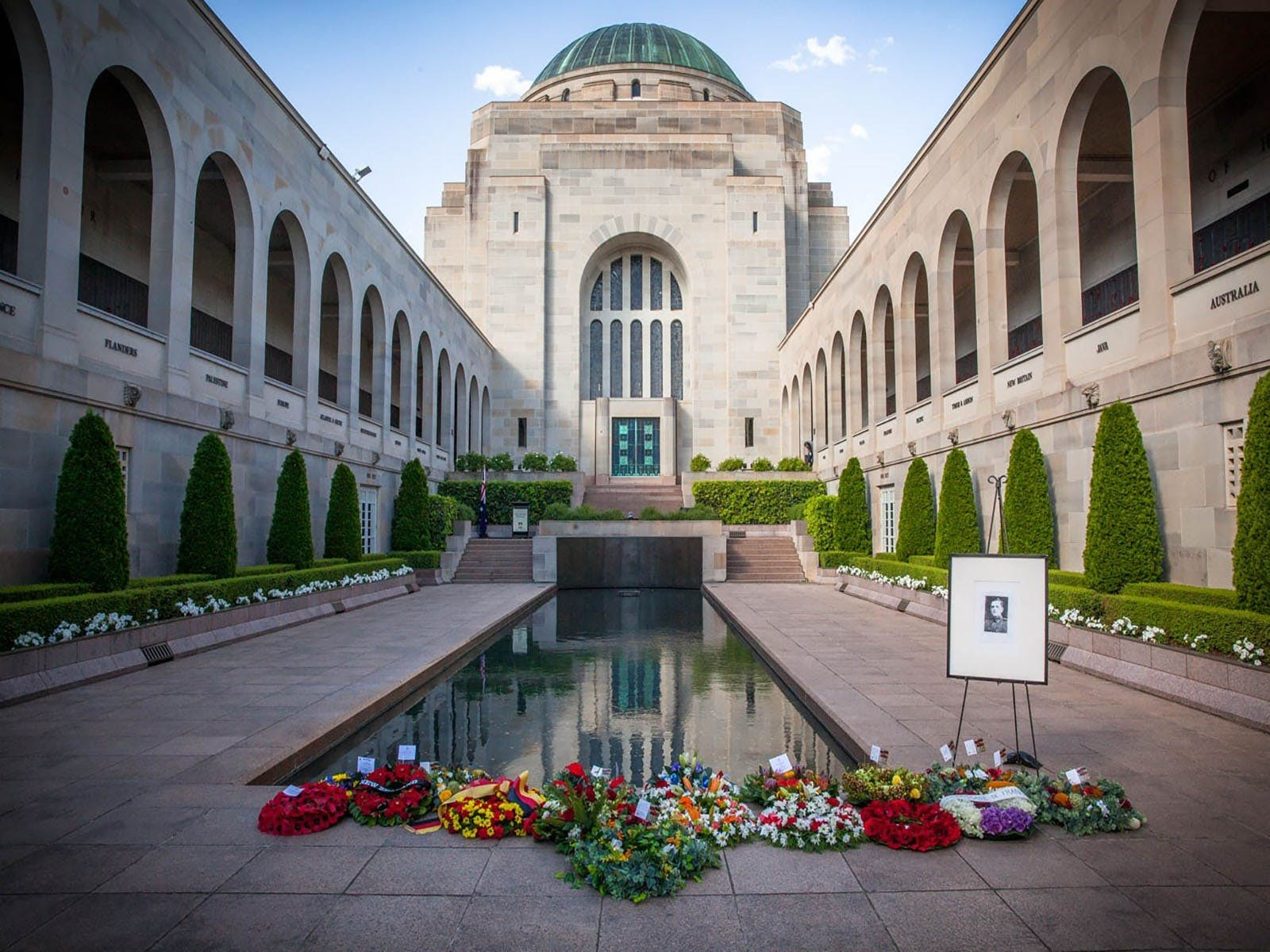 Pool of Reflection within the Commemorative Area of the Australian War Memorial