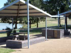 Shaded barbeque area