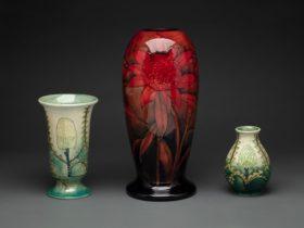 Waratah vase by William Moorcroft, 1939
