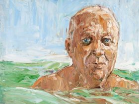 Robert Drewe (in the swell) (detail), 2006 by Nicholas Harding