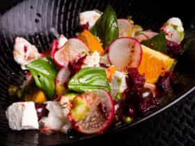 Colourful dish from Black Fire Restaurant