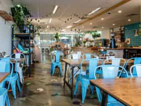 Local Press Wholefoods indoor seating space