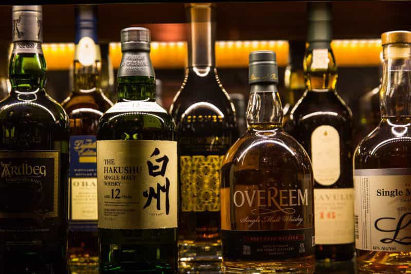 Wide range of whiskey