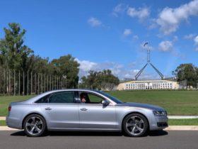 Audi A8 luxury sedan, spacious and comfortable