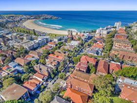 Bondi Beach Peach - Aerial View to Bondi Beach