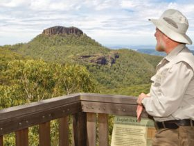 Euglah Rock Lookout near Bark Hut campground, Mount Kaputar National Park. Photo: Rob Cleary