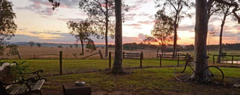Photo of sunset views from the property at Bella Wind Bed and Breakfast
