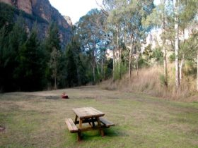 Picnic table in Coorongooba campground. Photo: Dave Noble/NSW Government