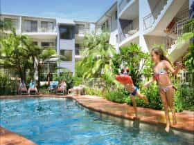 Flynns Beach Resort has tropical surroundings with 2 pools - a perfect family friendly getaway
