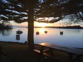 Waterfront view from foreshore caravan park
