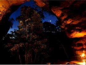 Nighttime Cave