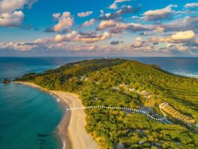 Aerial View of Cape Byron Line to Beach