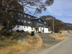 Perisher Huette lodge without snow