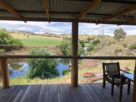 View from the wide verandah