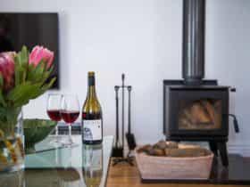 Enjoy Rowlee wine by the log fire