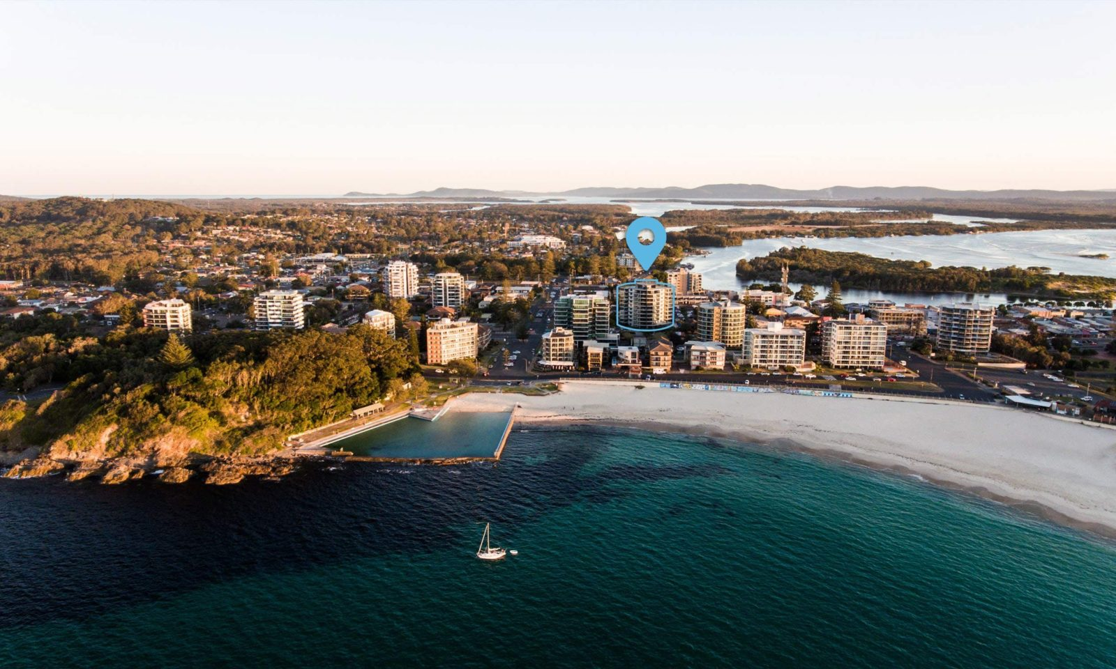 Sevan apartments is highlighted in the heart of Forster