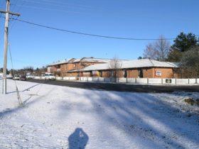 Motel in winter