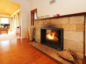 Keep warm in winter at Harrowfield Homestead