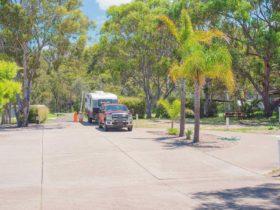Caravan park driveway NSW Tathra campground