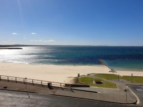 image of the view from a beachfront suite
