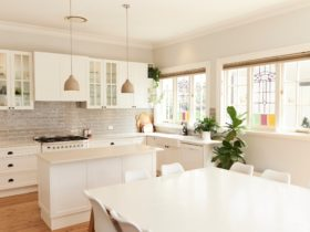 Enormous renovated kitchen and 12 person dining table