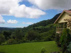 Valley views from lawn and veranda of guesthouse