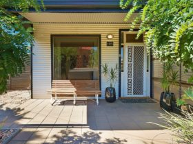 Generously shaded front of the house, ensures privacy and a leafy outlook