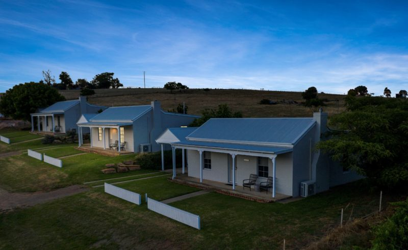 Aerial view of our cottages