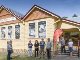 The old Mullumbimby post office reloacted to Summers Park for a museum in 1984