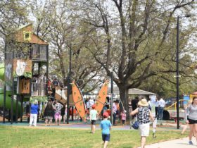 Tree House with kids on opening day