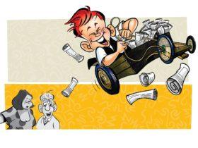 Jason Chatfield, Ginger Megs Cartoon