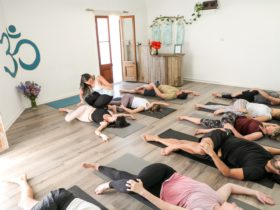 Yoga class at Om Sweet Om