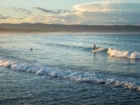 Surfing at Tathra Beach