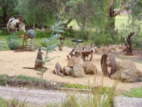 Display at Wallangreen Sculpture Garden