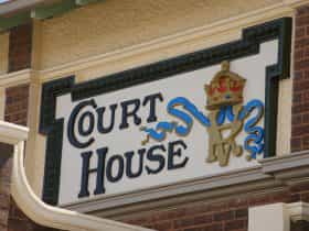 Wyalong Museum is located in the old Court House