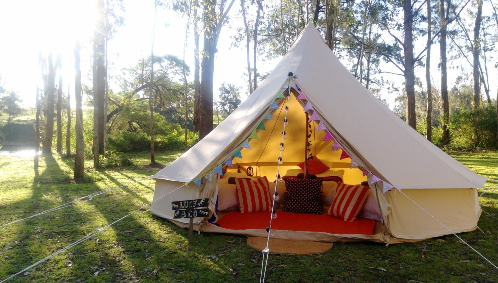 Couple glamping