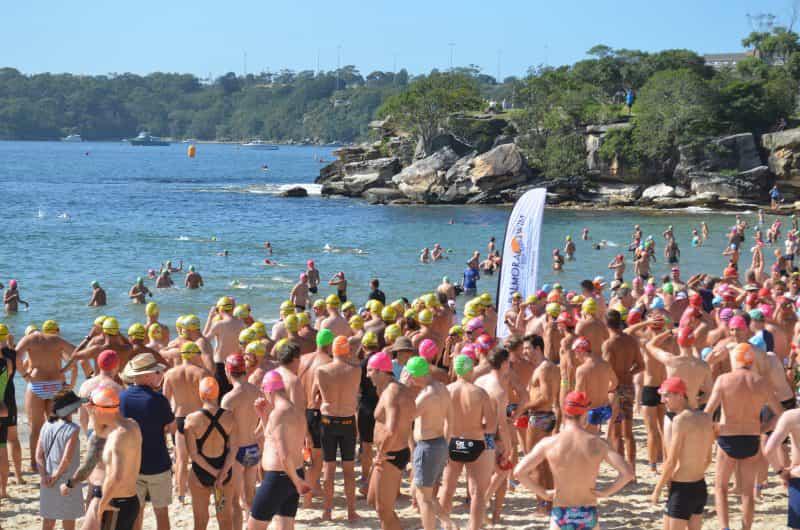 Around the island 1 KM swim