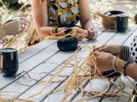 Basket Coiling with Raffia