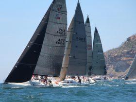 Fleet leaving Broken Bay