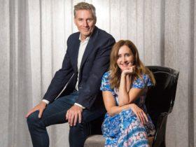 David Hobson and Marina Prior