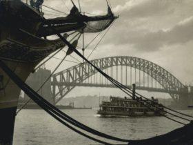 Harold Cazneaux, 'A study in Curves' 1931 gelatin silver print Australian National Maritime Museum