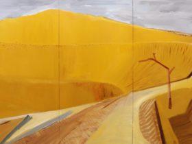 Gregory Carosi, DR 5 (detail) 2020, oil on aluminium (4 panels), 800 x 1600 mm.