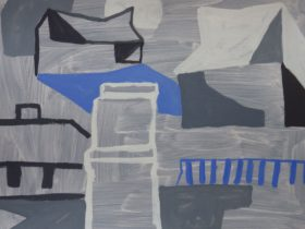 Neridah Stockley, 'Hermannsburg, 2019, oil on paper, 76 x 56cm