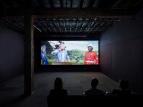 Soda Jerk, TERROR NULLIUS, 2018, installation view, Just Not Australian, Artspace, Sydney, 2019