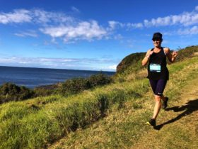 Runner with ocean view