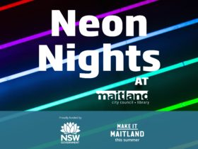Neon Nights at Maitland City Library