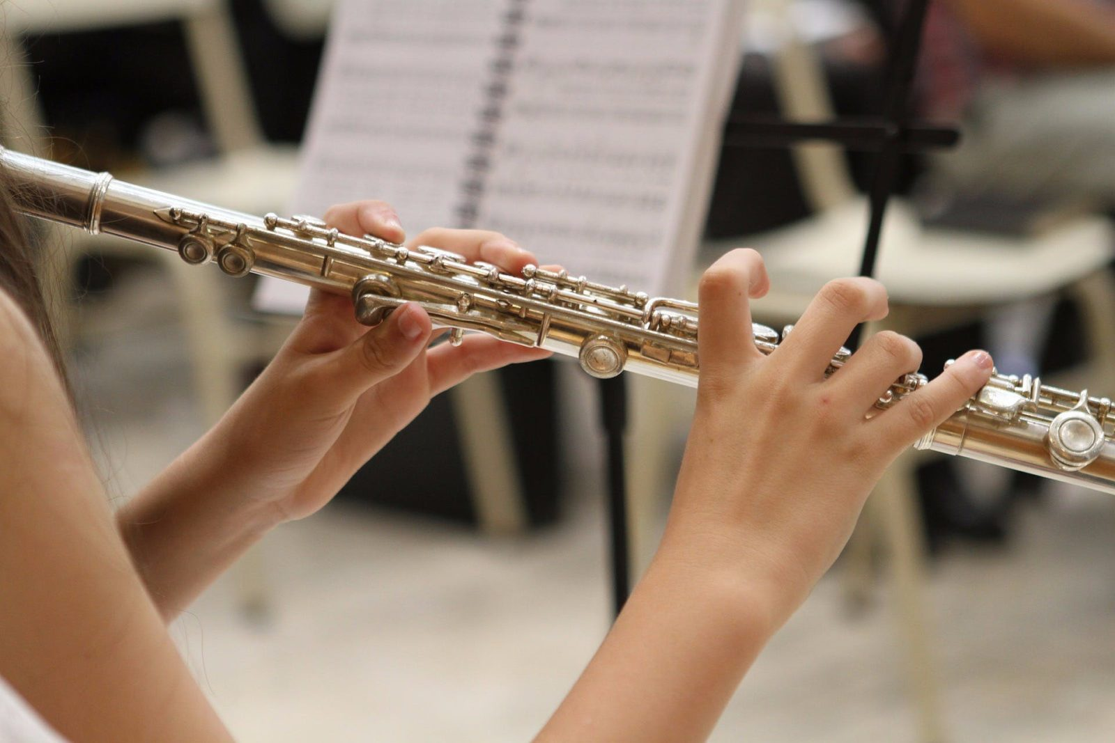 Musical Image Playing the Flute